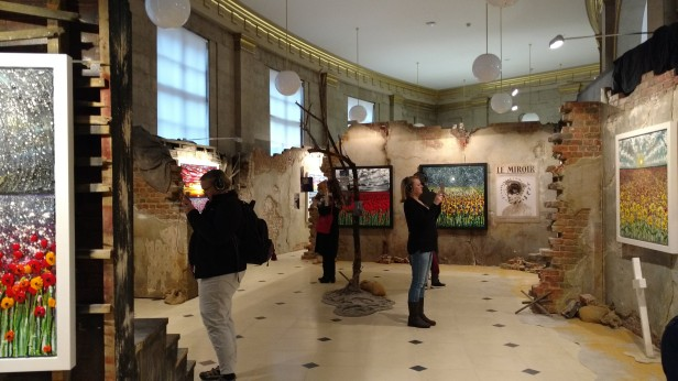 visitors to The Danger Tree exhibition at Manchester Central Library